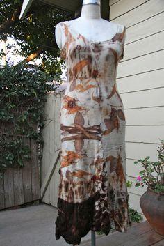 Studio 907: Eco Printed Alabama Chanin dress This gal did an amazing job on this dress.  Love love love it!
