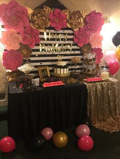 Kate Spade Birthday Party Candy Table