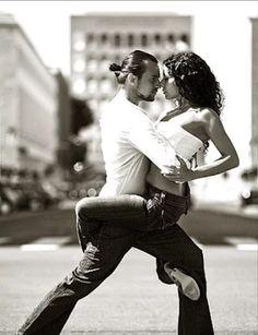 Latin dancing on the street.