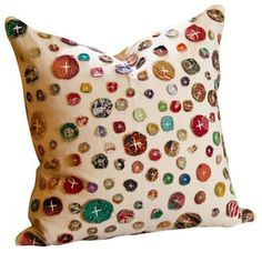 Fun pillow, could you DIY it with fabric scraps and drop cloth material