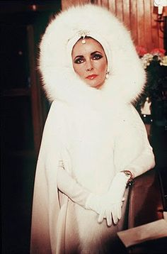 Elizabeth Taylor Vintage Fur Hood