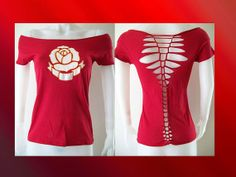 SPECIAL DISCOUNT  Junior/ Womens Shredded cut by LasciviousGrace, $22.00