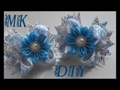 МК Американский бантик & канзаши\DIY American bow & kanzashi + new tab kanzashi - YouTube