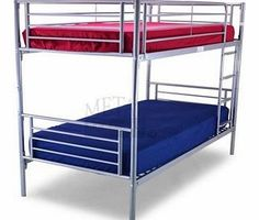 Metal Beds Ltd Bertie 30 Bunk Bed Silver The Bertie Bunk Bed is an elegant and stylish furniture piece for the enhancement of any bedroom décor. This attractive double-sleeper bed will add a relaxed feel and comfortable spacing to any loca http://www.comparestoreprices.co.uk/bunk-beds/metal-beds-ltd-bertie-30-bunk-bed-silver.asp