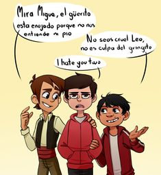 Having Leo, Miguel and Marco is a strange photo that I like Humor Disney, Funny Disney Memes, Disney Xd, Disney And Dreamworks, Disney Cartoons, Disney Love, Funny Memes, Cartoon Crossovers, Disney Crossovers
