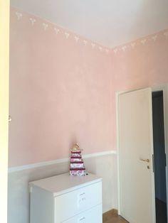 rosa fascia bianca grigio stencil con i fiocchi
