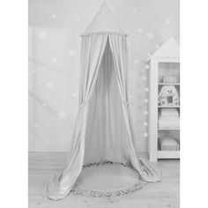 Sweet baby baldachin szett elegant (párna nélkül) - világosszürke Baby Dekor, Ruffle Pillow, Baby Nest, Hiding Places, Cot, Floor Mats, Hanging Chair, Bassinet, Decoration