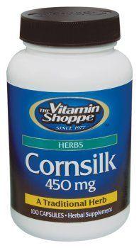 Vitamin Shoppe - Cornsilk, 450 mg, 100 capsules by Vitamin Shoppe. $4.99