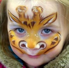 Bildergebnis für kinderschminken giraffe