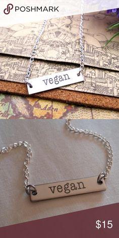 "VEGAN NECKLACE  VEGAN NECKLACE PENDANT ""ARRIVING SOON""  Jewelry Necklaces"