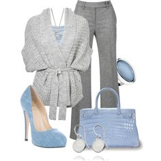 """Fade Into Blue"" by jewhite76 on Polyvore"