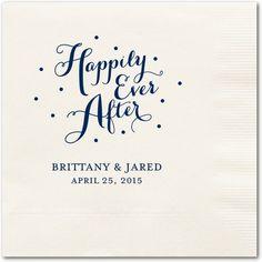 Personalized Wedding Napkins//
