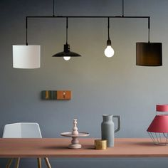 Find more track lighting information about industrial rotated track modern 4 lights nordic personality pendant light sitting dinning room fabric hanging lamp bar aloadofball Image collections