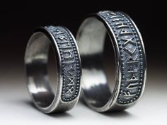 Elder Futhark Runen Ring Sterling Silber Größe US 4-14 /