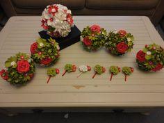 Paquete de boda flor de papel - papel Rosa peonía amapola ramo de novia dama de honor ramo Boutonnieres