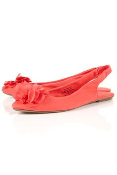 oh this color! $40.00 watermelon slingbacks Top Shop