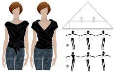 Dos camisetas en una sin costuras, pineado por www.estrellasdeweb.blogspot.com