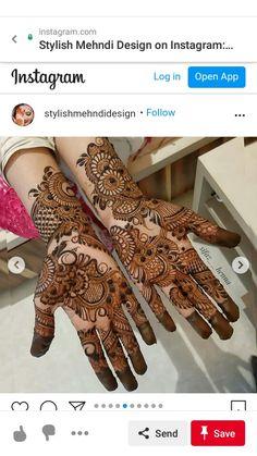 Pretty Henna Designs, Full Hand Mehndi Designs, Henna Art Designs, Mehndi Designs For Girls, Mehndi Designs For Beginners, Stylish Mehndi Designs, Mehndi Design Photos, Mehndi Designs For Fingers, Wedding Mehndi Designs