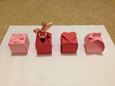 No Glue Valentines Boxes #papercraft #paper_craft #gift