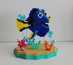 Hey, I found this really awesome Etsy listing at https://www.etsy.com/listing/287187661/dory-finding-nemo-inspired-perler-bead