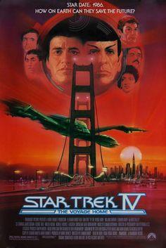 Star Trek IV: The Voyage Home (1986) film, voyage, stars, trek iv, poster, movi, startrek, homes, star trek