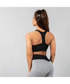 aafff84aba Versa Forma Vivekk Sports Bra Black Grey-Versa Forma-Gym Wear