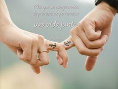 """""""Más que un #Compromiso, la #Promesa de permanecer una #Vida juntos"""". @candidman #Frases #Amor"""