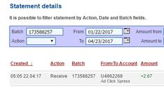 """""""I am getting paid daily at ACX and here is proof of my latest withdrawal. This is not a scam and I love making money online with Ad Click Xpress."""""""