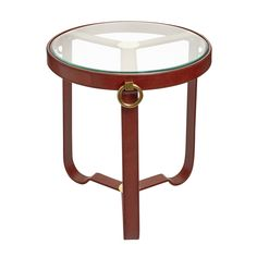 Round Cognac Table