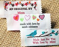 Custom-made clothing labels - this would be great for the knitting I gift!