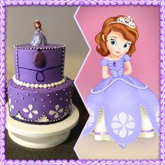 Birthday Cake Photos - Sofia the First birthday cake for my daughter's 3rd birthday. I was trying to copy her dress. I'm not happy with the top tier. The piping is terrible and it seems too plain. Not sure how I should have done it though. Any suggestions?