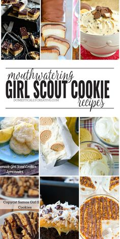 Love a good Girl Scout cookie? Check out these mouthwatering Girl Scout Cookie Recipes! Here are 15 deliciously addicting, mouth-watering Girl Scout cookie recipes you'll definitely want to make at home today! Delicious Cookie Recipes, Fun Easy Recipes, Easy Cookie Recipes, Cookie Desserts, Easy Meals, Dessert Recipes, Yummy Food, Yummy Eats, Yummy Yummy