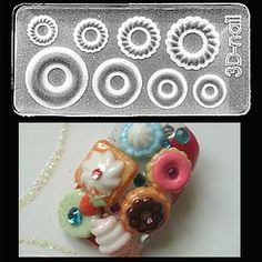 Donut 1 Mold Molds Take The Tedious Hand Work Time Out Of Nail Art With Ability To Use Them Gel Or Acrylic Limits Are Endless 6 95