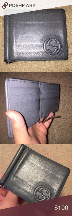 d335c721cbf Gucci Men s Wallet with Money Clip Authentic Gucci Men s Wallet with Money  Clip is in fair