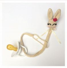 [Free Pattern] This Lovely Bunny Pacifier Will Keep Your Baby Happy - Page 2 of 2 - Knit And Crochet Daily Crochet Baby Bibs, Crochet Baby Sandals, Crochet Baby Clothes, Crochet Bunny, Crochet For Kids, Knit Crochet, Crotchet, Easy Crochet Patterns, Crochet Patterns Amigurumi