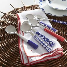 Como 6-Piece Spoon Set in All Paola Navone | Crate and Barrel