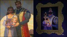 Rapunzel and her parents