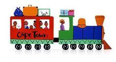 Train - Tin Art Fridge Magnet by GoodiezOnline on Etsy