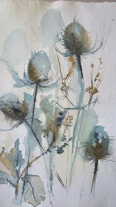 Sally Wyatt original artworks for sale. Uplifting little treasures of winter . Watercolour on hand made paper with irregular deckle edge.Discover affordable original artworks for sale through our online art gallery featuring carefully selected Britis Abstract Watercolor, Watercolor And Ink, Watercolour Painting, Watercolor Flowers, Painting & Drawing, Watercolors, Colour Drawing, Watercolor Artists, Botanical Art