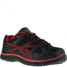 4a48c14766fc1a RB2204 Reebok Men s Sport Oxford Safety Shoes - Black Red www.bootbay.com