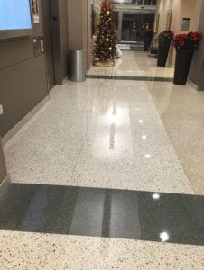 It Is Not Always Easy To Identify If A Terrazzo Floor Is Composed Of Epoxy Or Cement But It Is Important To Know Which Terra In 2020 Terrazzo Terrazzo Flooring Cement