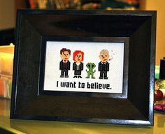 x-files cross stitch. don't know where to get the pattern!