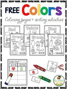 El color libera Actividades - Colorear y clasificación - Tesoros de la señora Thompson
