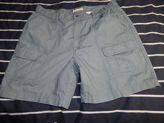 Savane Blue Mirage Men's Hiking Shorts Tech Pocket Cargo Pants Sz Waist 38 #Savane #CargoShorts