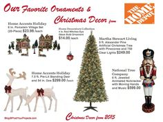 2015 Christmas Decor from The Home Depot