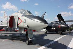 F-4 Phamtom. Flight Deck. Luis MC Intrepid Museum, Flight Deck, Fighter Jets, Aircraft, Vehicles, Aviation, Car, Planes, Airplane