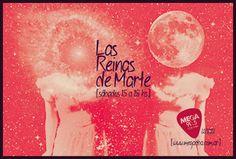 Flyer Reinas de Marte, programa radial. Mega Córdoba, 2012.