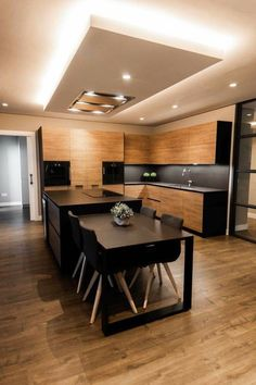 Modern Kitchen Interiors, Luxury Kitchen Design, Kitchen Room Design, Home Room Design, Kitchen Cabinet Design, Kitchen Layout, Home Decor Kitchen, Interior Design Living Room, Home Kitchens