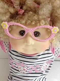 Cabbage Patch Kid Babyland Exclusive Girl Doll Blonde Curly Hair Brown Eyes