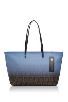 -Fendi- Jacquard Zucca Logo Large Tote  Fendi  Handbags Blue Ombre, Large c2c69acaa2